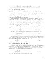 Tài liệu Chương 2: Chu trình nhiệt động và máy lạnh pptx