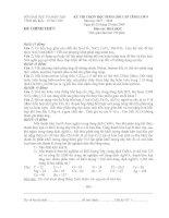 Tài liệu Đề thi học sinh giỏi cấp tỉnh môn hóa học lớp 9 năm 2007 - 2008 ppt