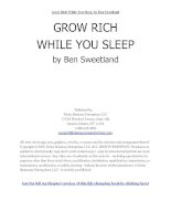 Tài liệu Grow Rich While You Sleep by Ben Sweetland docx