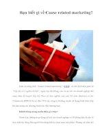 Tài liệu Bạn biết gì về Cause related marketing? ppt