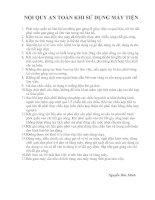 Tài liệu Nội quy an toàn khi sử dụng máy tiện pdf