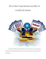 Tài liệu 10 sai lầm trong thương mại điện tử và thiết kế website ppt