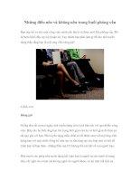 Tài liệu Những điều nên và không nên trong buổi phỏng vấn pptx