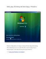 Tài liệu Khắc phục lỗi không thể khởi động ở Windows pptx