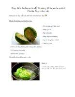 Tài liệu Bay đến Indonexia để thưởng thức món salad Gado đầy màu sắc docx