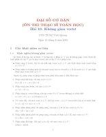 Tài liệu Ôn thi cao hoc đại số tuyến tính bài 10 - PGS TS Vinh Quang doc