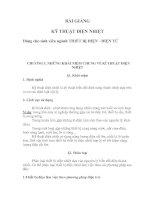 Tài liệu CHƯƠNG 1. NHỮNG KHÁI NIỆM CHUNG VỀ KĨ THUẬT ĐIỆN NHIỆT ppt