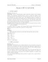 Tài liệu Giáo trình Vi điều khiển - Phục lục 4 pdf