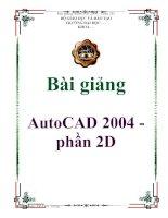 Tài liệu Bài giảng: AutoCAD 2004 - phần 2D ppt