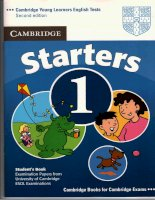 Tài liệu luyện thi Cambrige cho bé - Starter 1