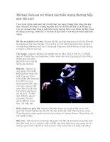 Tài liệu Michael Jackson trở thành một biểu tượng thương hiệu như thế nào? docx