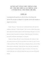 Tài liệu LUYỆN KỸ NĂNG VIẾT TIẾNG ANH 155 -CHỦ ĐỀ VIẾT LUẬN TIẾNG ANH 14 pdf