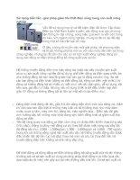 Tài liệu Sử dụng biến tần - giải pháp giảm tổn thất điện năng trong sản xuất nông nghiệp pptx