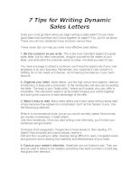 Tài liệu 7 Tips for Writing Dynamic Sales Letters docx