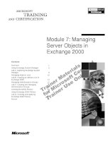 Tài liệu Module 7: Managing Server Objects in Exchange 2000 pptx