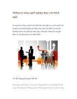 Tài liệu Những kỹ năng nghề nghiệp được yêu thích nhất pdf