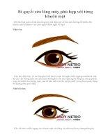 Tài liệu Bí quyết sửa lông mày phù hợp với từng khuôn mặt ppt