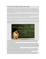 Làm thế nào để học giỏi môn toán