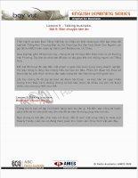 Tài liệu English for Business (Lesson 9) pptx