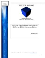 Tài liệu Installing, Configuring and Administering ISA Server 2000, Enterprise Edition doc