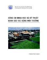 Tài liệu Công cụ khoa học và kỹ thuật đánh giá tác động môi trường ppt