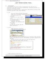 Tài liệu lập trình dùng tool pdf