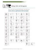 TIẾNG NHẬT hiragana vietnamese