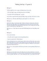 Tài liệu Những bài học về quản lý pdf