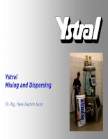 mixing and dispersing