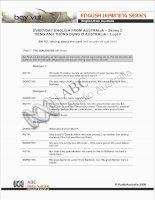 Tài liệu BÀI 2: EVERYDAY ENGLISH FROM AUSTRALIA – Series 2 TIẾNG ANH THÔNG DỤNG Ở AUSTRALIA – Loạt docx