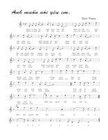 Tài liệu Bài hát anh muốn nói yêu em - Quốc Vượng (lời bài hát có nốt) pdf
