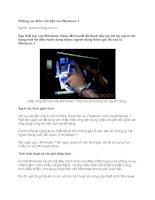 Tài liệu Những ưu điểm nổi bật của Windows 7 pptx