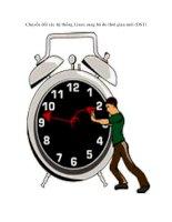 Tài liệu Chuyển đổi các hệ thống Linux sang bộ đo thời gian mới (DST) pdf