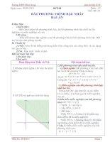 Bài soạn Giao an Đại số 10 tuan 22