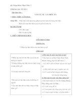 Bài soạn Giáo án dạy thêm Ngữ văn 7