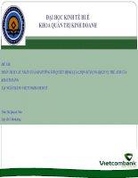 Slide PHÂN TÍCH các NHÂN tố ẢNH HƯỞNG tới QUYẾT ĐỊNH lựa CHỌN sử DỤNG DỊCH vụ THẺ ATM của KHÁCH HÀNG tại NGÂN HÀNG VIETCOMBANK HUẾ