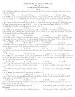 Bài giảng Đề luyện thi Đại học Môn Vật Lý số 9+10 và đáp án