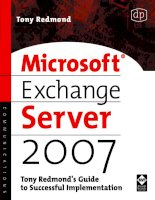 Tài liệu Microsoft® Exchange Server 2007: Tony Redmond's Guide to Successful Implementation doc