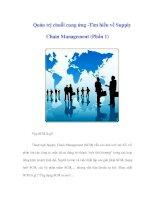 Tài liệu Quản trị chuỗi cung ứng -Tìm hiểu về Supply Chain Management (Phần 1) ppt