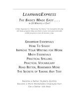 Tài liệu LEARNING EXPRESS THE BASICS MADE EASY pdf