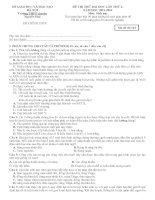 ĐỀ THI THỬ ĐẠI HỌC LẦN THỨ 4. NĂM HỌC 2011-2012 Môn: Sinh học Trường THPT chuyên Nguyễn Huệ