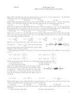 Tuyển tập đề thi môn vật lý cho thí sinh Ban Khoa học tự nhiên