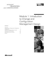 Tài liệu Module 1: Introduction to Change and Configuration Management Design pptx