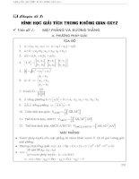 Toán ôn thi đại học - chuyên đề 7 hình học giải tích trong mặt phẳng oxyz