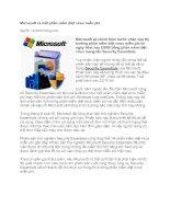 Tài liệu Microsoft ra mắt phần mềm diệt virus miễn phí docx