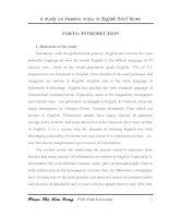 A study on passive voice in english brief news = nghiên cứu sử dụng thể bị động trong các mẩu tin vắn tiếng anh