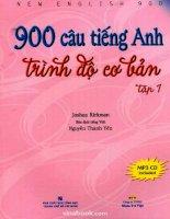900 Câu Tiếng Anh - Trình Độ Cơ Bản tập 1