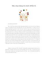 Tài liệu Hãy chọn đúng trò chơi! (Phần 5) - GIA TĂNG LỢI NHUẬN pdf