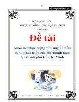 Tài liệu Đề tài: Khảo sát thực trạng sử dụng và tiềm năng phát triển của thẻ thanh toán tại thành phố Hồ Chí Minh doc