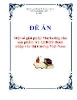 """Tài liệu Đề án """"Một số giải pháp Marketing cho sản phẩm trà LEROS thâm nhập vào thị trường Việt Nam"""" pdf"""